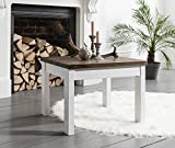 Canterbury Coffee Table in Dark Pine and White Square Noa & Nani