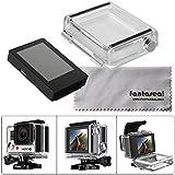 Fantaseal Pantalla LCD de Gopro Monitor de Pantalla Eterna Visor con Caso Trasero para GoPro Hero 4 / Hero 3+