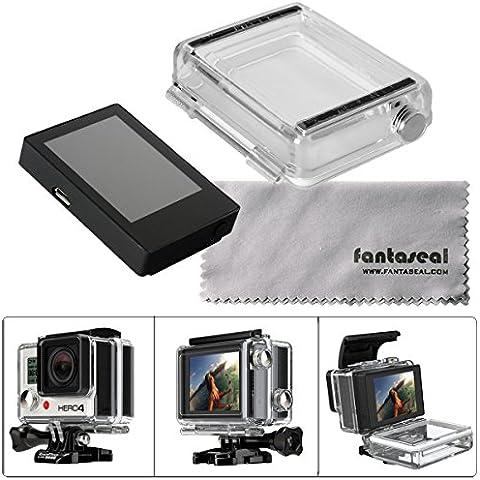 Fantaseal Pantalla LCD de Gopro Monitor de Pantalla Eterna Visor con Caso Trasero para GoPro Hero 4 / Hero