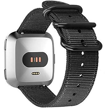 FINTIE Bracelet pour Fitbit Versa/Fitbit Versa Lite Edition Montre connectée - Bande de Remplacement