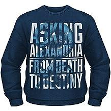 Asking Alexandria From Death To Destiny Oficial de los hombres Azul Camisa de