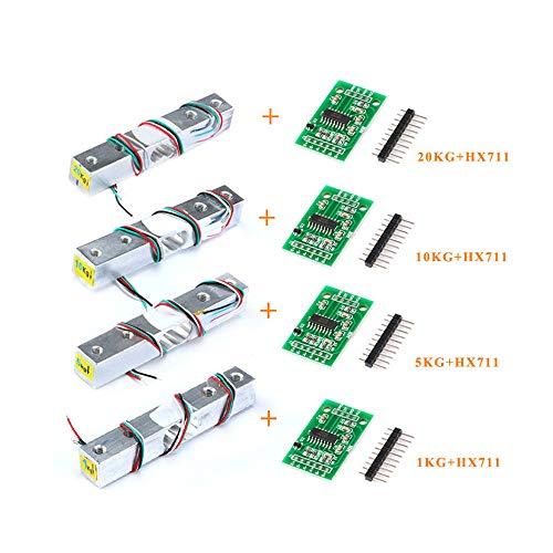 1KG 5KG 10KG 20KG HX711 AD Modul Wägezelle Gewichtssensor Elektronische Waage Aluminiumlegierung Wiegen Drucksensor, 5 Paar 5 KG HX711 -