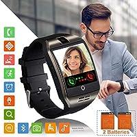 Tipmant Montre Connectée Femmes Homme Enfant SN06 Smartwatch Supporte la Carte SIM Caméra Podometre Sport Bracelet Connecté Montre connectee pour Samsung Xiaomi Huawei Android Apple iPhone iOS (Noir)