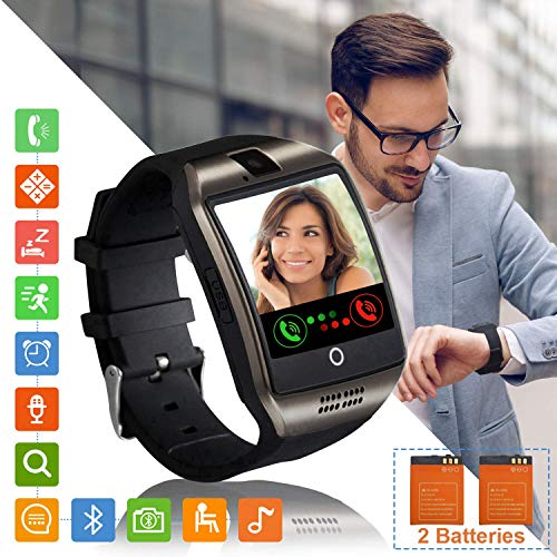 tipmant smartwatch orologio fitness uomo donna smart watch android touch screen orologi con sim slot contapassi calorie sport smartband fitness activity tracker per samsung huawei xiaomi lg (nero)