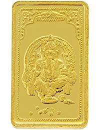 TBZ - The Original 25 gm, 24k(999) Yellow Gold Ganesh Precious Coin