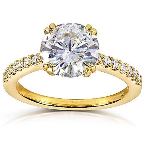 Kobelli Moissanite 14k Or jaune Rond G-H Moissanit Diamant