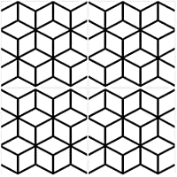 Farbe: Schwarz W/ähle ein Muster /& Gr/ö/ße -Aileen Wandkings Bodenfliesenaufkleber 4er Set 5 x 5 cm