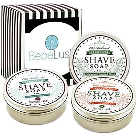 Barbershop Shave Soap Bar by BebeLush - with Shea, Mango