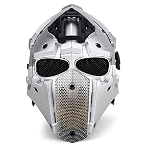 HYOUT Full Face Protective Mask Tactical Airsoft Helmet with Visor Goggles for Hunting Paintball Military Motorcycle Cosplay Movie Prop from HYOUT