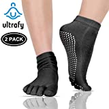 Best Yoga Gloves - ULTRAFY Yoga Socks Pilates Socks 2 Pack, Non Review