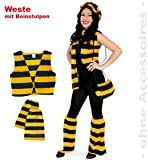 FASCHING 10875 Kostüm Set Biene, Weste m. Stulpen NEU/OVP: Größe: XL