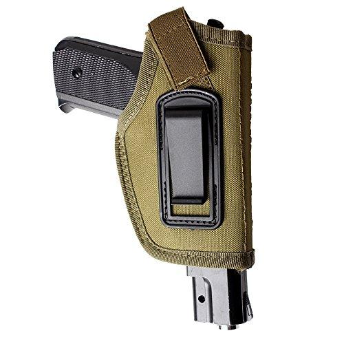 IWB, Pistolenholster, 1 Stück, zum Tragen innen am Bund, verdecktes Tragen, passend für M + P Shield In, 9mm Glock 19,43,17,26,23,27,P320,Ruger LC9, lC380und ähnlich große Pistolen, grün (Verdeckte Holster Ruger Lc9)