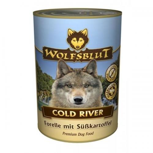 6 x Wolfsblut Dose Cold River 1,2 kg, Nassfutter, Hundefutter