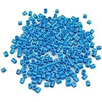 Comparador de precios DIY Platic Perlen, Minkoll 1000 Teile/los 5 mm DIY Pazzle Handwerk Spielzeug für Kinder Pädagogisches (azul ceano) - precios baratos
