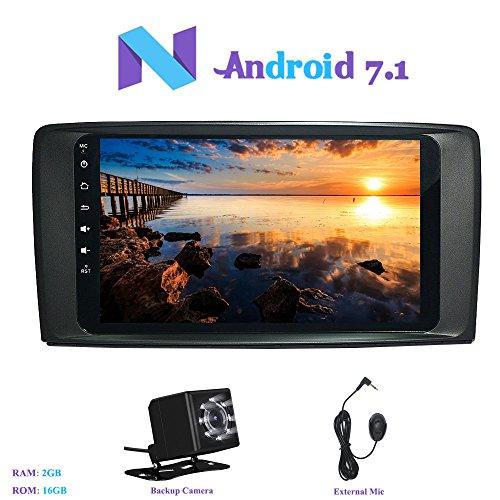 Foto de Android 7.1 Autoradio, Hi-azul RAM 2G Radio de Coche 9 Pulgadas Navegación GPS Auto Radio Estereo con 1024*600 Pantalla Multitáctil para Mercedes-Benz R-W251/ R280/ R300/ R320/ R350/ R500 (2006-2015) (con Cámara de Visión Trasera)