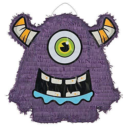Purple Papier-Mâché Monster Bash Piñata