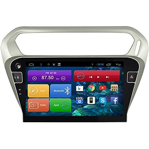 Top Navi da 10.11024* 600Android 4.4lettore PC Auto per Citroen Elysee 2015Auto di navigazione GPS WIFI Bluetooth Radio 1,2GB CPU DDR3Capacitivo Touch Screen 3G car stereo audio rubrica RDS AUX Specchio link 16GB Quad Core