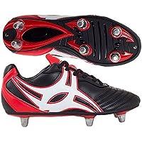 Sidestep XV botas de rugby con 8 tacos y puntera dura, color negro, talla 41 EU