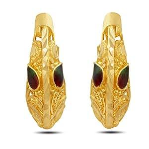 P.N.Gadgil Jewellers 22k Yellow Gold Hoop Earrings