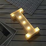 DIY LED Brief Beleuchtung Alphabet Event Dekoration Nachtlichter Stimmungslicht Schlummerleuchten Lampen Kunststoff Dekorationen für Geburtstag Party Hochzeit (I)