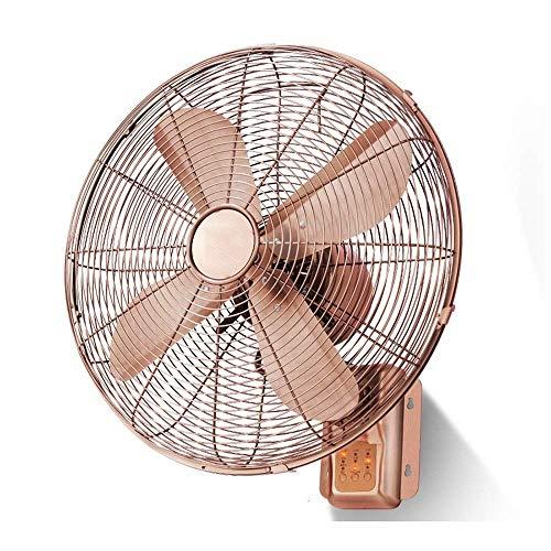 Ventilador Eléctrico Práctico, Ventilador Retro Vintage Cronometrado Montado en la Pared Ventilador...