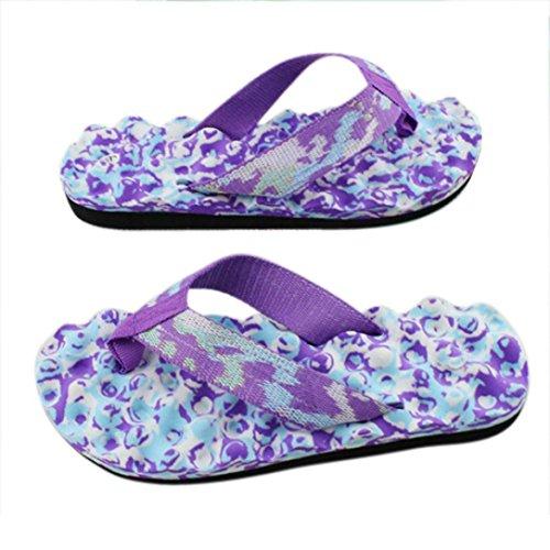 Amlaiworld Donna indoor e outdoor flip-flop pantofole per casa Viola