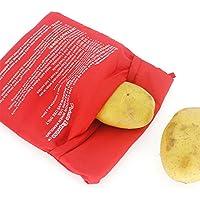 Sunsbell Rojo Microondas Baked Potato Bolsa Lavable Olla Bolsa de Patatas al Horno de cocci¨n con microondas Patata r¨Âpido Fast