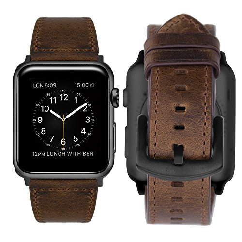 IBazal Compatible iWatch Series 4 Correa 44mm Cuero