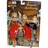 Limited Edition 7 Platinum Letha Action Figure - 1998 Lightning Comics' Sisters of Darkness Series by Skybolt Toys