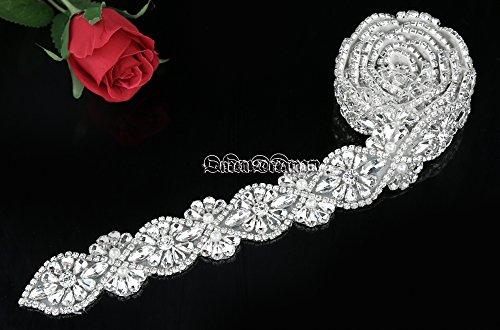 Queendream cristallo applique per abito da sposa sash wedding