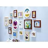 JH Fotorahmen Kollage Foto Wand Europäische Massivholz Wohnzimmer Mittelmeer Rahmen Kombination Wand Hängenden Schlafzimmer Kreative Kinder Foto Wand Pastorale Schönheit (Color : 4#)