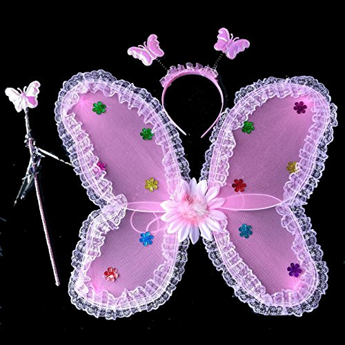 Damjic Halloween Kostüme Schmetterlingsflügel Anzüge Engel Schmetterlinge Flügel 45 * 35 Cm (Kostüm Halloween Alien Cute)