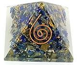 Orgone Piramide Reiki Charged Generatore di energia Accumulatore Chakra Aura Bilanciamento pietre naturali cristallo di guarigione chip| Taglie: M (20x 30mm) e l (40x 50mm) |