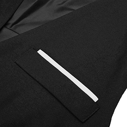 Hasuit Herren Anzugweste Business Basic Mode Einreiher Drei Knöpfe Weste in europäischen Größen Schwarz
