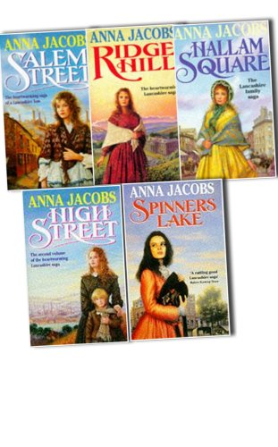 Anna Jacobs Gibson Family Saga 5 Books Collection Pack Set RRP: £27.96 (High Street, Salem Street, Ridge Hill, Spinners Lake, Hallam Square)