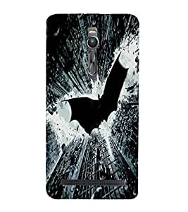 Cartoon, Black, Cartoon and Animation, Printed Designer Back Case Cover for Asus Zenfone 2 ZE551ML