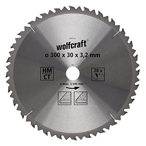 Wolfcraft 6741000 1 TischKreissägeblatt HM, 28 Zähne, ø 300 mm