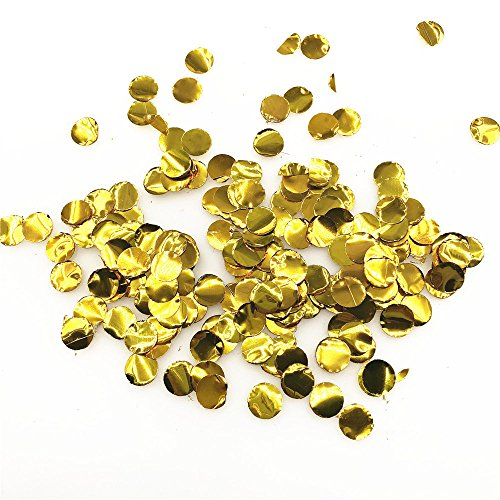 10g Premium Multicolor 1cm Kreis Papier Konfetti für Party Hochzeit Dekorationen (Flash gold)