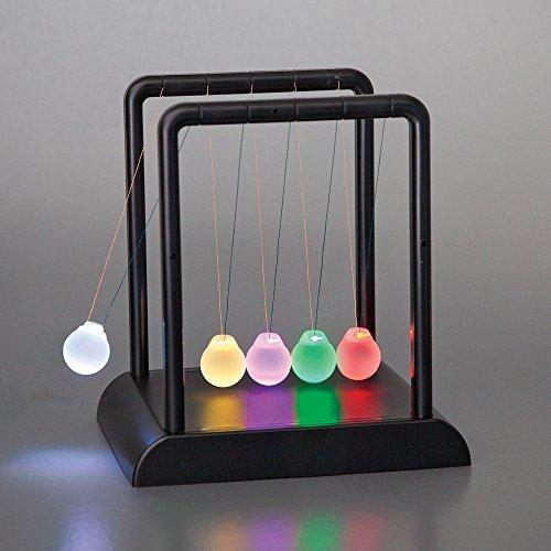 Bits and Pieces - LED Light Up Newton's Cradle - Classic Desktop Accessory