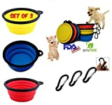 Best Peanuts Dog Bowls - Premium Pop-Up Collapsible Travel Dog Bowls * Set Review