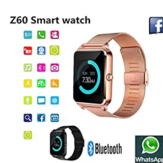 Befied SmartLife - Smart Watch Bluetooth Remote Camera Sedentary Remind | Android IOS support SD Card Memory Card | Alarm |Steps Counting | Sleep Monitor (Gold)