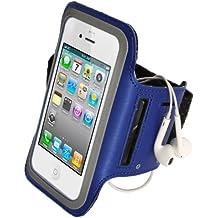 igadgitz Blau Reflektierende Anti-Rutsch Neopren Sports Armband Oberarmtasche Tasche Schutz Hülle Etui Case für Apple iPhone SE, 5S, 5C & 5 4G LTE
