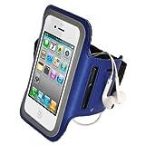 igadgitz Negro Brazalete Armband Sport Deporte Funda para Nuevo Apple iPhone SE 5S 5C 5 4G LTE