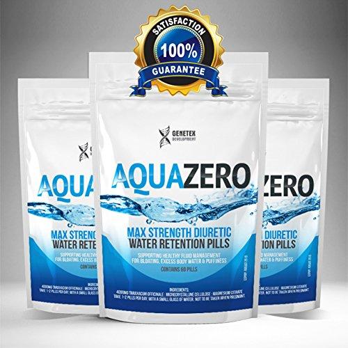 Aqua Zero Pills Water Retention Bloating, Diuretic, Diet Detox Tablets