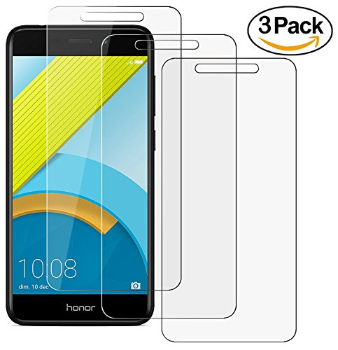 ZEEREE [3 Stück] Honor 6C Pro Panzerglas Schutzfolie, Ultra Strapazierfähig Härtegrad 9H Displayschutzfolie für Huawei Honor 6C Pro (5,2 Zoll)