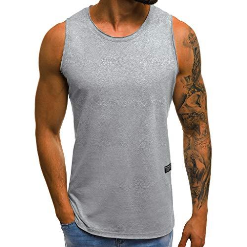 T Wonder Kostüm Woman Shirt Mädchen - ESAILQ Mode Persönlichkeit Herren Sommer Beiläufiges Dünnes ärmelloses T-Shirt Top Bluse(XXX-Large,Grau)