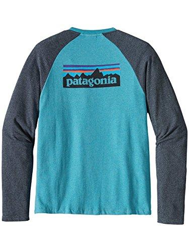 Herren Sweater Patagonia P-6 Logo LW Crew Sweater filter blue