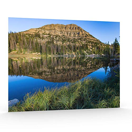 Utah Nature Photography Poster Serie 1, 41 x 20 cm 16x20 Inch Unframed Moose Horn Lake with Grass - Grass Lake
