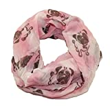 Mopsiger Loop Mops im Batik Look (rosa)