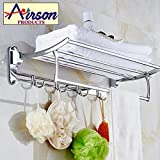 #6: Airson 24 inch/ 2 feet long Wall Mounted High grade Stainless steel folding towel rack